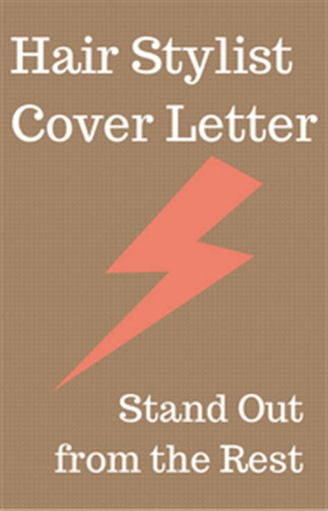 Cover letter examples for hairstylist